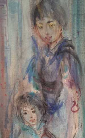 Edna_Hibel_Untitled_Asian_Family_30x14