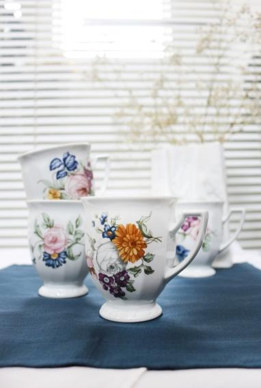"Rosenthal, jubileuszowa kolekcja ""Maria Flowers"" - kubki"